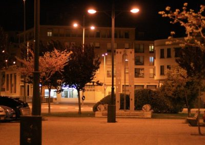 alumbrado público plaza Joaquina Zamora deTarazona (Zaragoza)