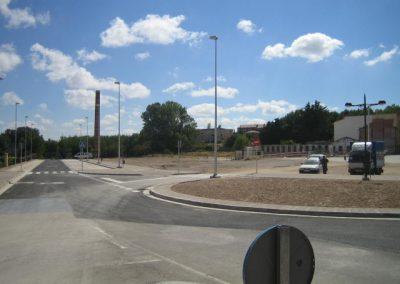 Obras de alumbrado público de Obras de alumbrado público de plaza Joaquina Zamora