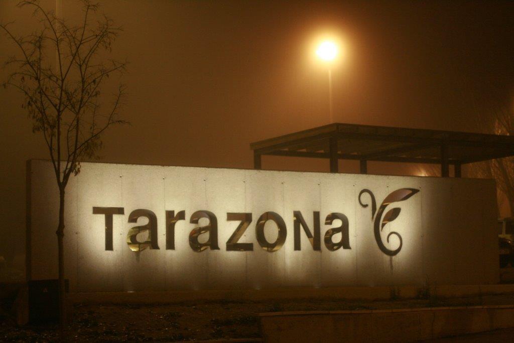 Electricidad IGALBE. Iluminación del nombre de Tarazona