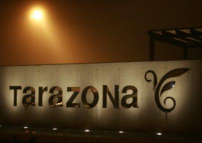 alumbrado público aparcamiento de Eguarás Tarazona (Zaragoza)