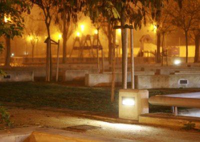alumbrado público del Parque de Pradiel