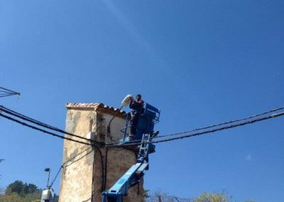 obras de alumbrado público de San Martín