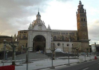 obras iluminación de la catedral de Tarazona 1