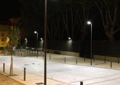 obras instalación eléctrica en aparcamiento eguarás